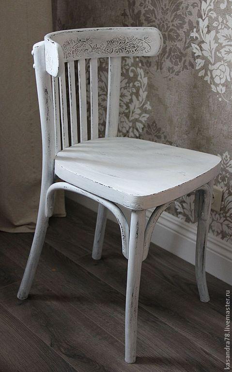 Покраска венского стула прованс