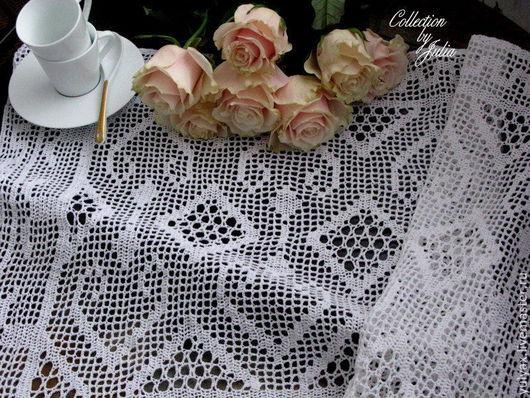 Текстиль, ковры ручной работы. Ярмарка Мастеров - ручная работа. Купить Дорожка на стол вязаная крючком. Handmade. Белый