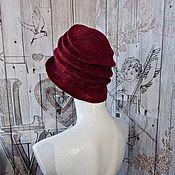 Аксессуары handmade. Livemaster - original item Hat Burgundy, Wool Felt. Handmade.
