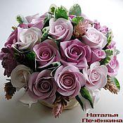 """Цветы и флористика ручной работы. Ярмарка Мастеров - ручная работа Композиция """"Розовый Шик"""". Handmade."""