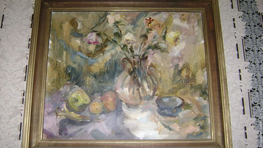 Картины цветов ручной работы. Ярмарка Мастеров - ручная работа. Купить Картина,натюморт,живопись. Handmade. Комбинированный, натюрморт с цветами
