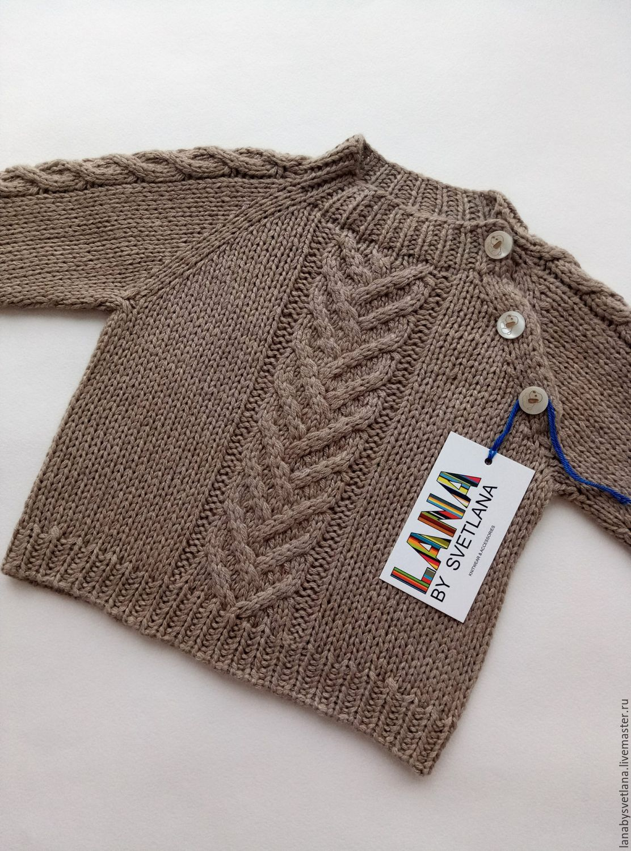 Связать детский свитер схема 997