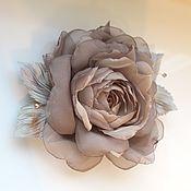 Украшения handmade. Livemaster - original item fabric flower. Chiffon rose brooch