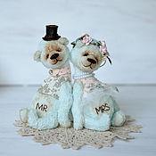 """Куклы и игрушки ручной работы. Ярмарка Мастеров - ручная работа Свадебная пара мишек """" Вместе навсегда"""". Handmade."""