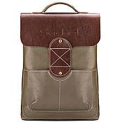 """Сумки и аксессуары handmade. Livemaster - original item Кожаный рюкзак """"Спэйс"""" (оливковый). Handmade."""