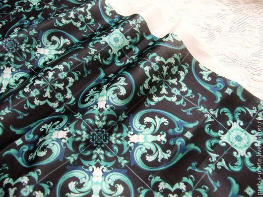 Шитье ручной работы. Ярмарка Мастеров - ручная работа. Купить Maiolica шелковый сатин стрейч, Италия. Handmade. Итальянские ткани
