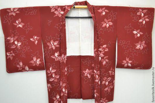 Этническая одежда ручной работы. Ярмарка Мастеров - ручная работа. Купить Хаори из шёлка  (Япония). Handmade. Шелк натуральный