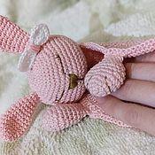Stuffed Toys handmade. Livemaster - original item Comfort knitted for newborn. Komforter Bunny.. Handmade.