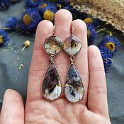 Украшения handmade. Livemaster - original item Double earrings with moss agate. Handmade.
