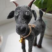Куклы и игрушки ручной работы. Ярмарка Мастеров - ручная работа Козёл Ванька из шерсти. Handmade.