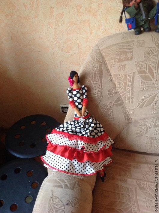 Куклы Тильды ручной работы. Ярмарка Мастеров - ручная работа. Купить Лусия. Handmade. Алый цвет, кукла интерьерная