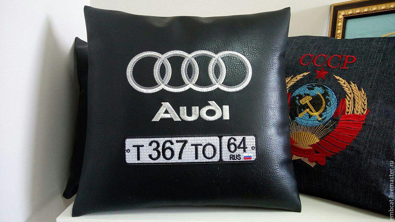 Вышивка на подушке в машину