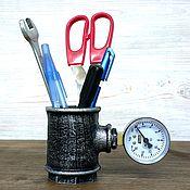 Карандашницы ручной работы. Ярмарка Мастеров - ручная работа Стакан для карандашей и ручек в стиле Лофт, Стимпанк, Индастриал. Handmade.