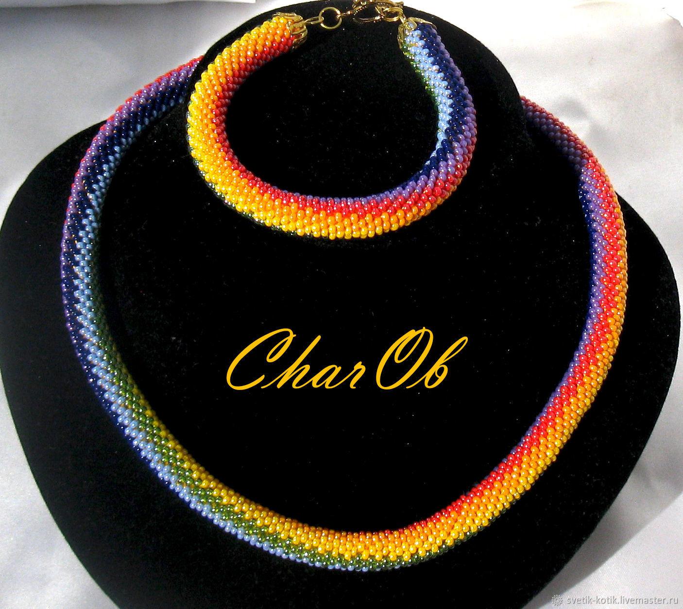 choker necklace rainbow necklaces rainbow set necklace bracelet gift decoration rainbow necklace and bracelet set rainbow 7 colors rainbow flower necklace beaded necklace beaded harness necklace summe