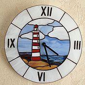 """Часы классические ручной работы. Ярмарка Мастеров - ручная работа Часы """" Маяк"""", тиффани. Handmade."""