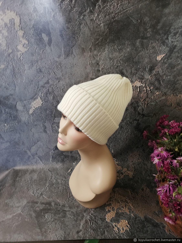 Knitted hat, Merino beanie, pumpkin, Merino wool, Caps, Krasnodar,  Фото №1
