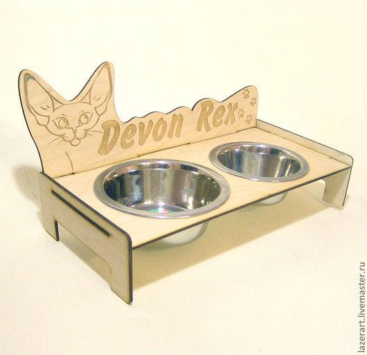 Аксессуары для кошек, ручной работы. Ярмарка Мастеров - ручная работа. Купить Кормушка для кошки №2. Handmade. Бежевый, для животных