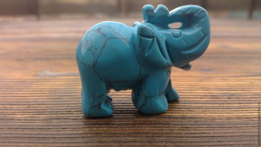 Для украшений ручной работы. Ярмарка Мастеров - ручная работа. Купить Бусина слон, статуэтка слон. Handmade. Подвеска из камня