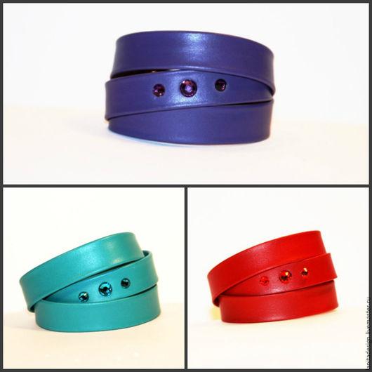 Пояса, ремни, браслеты ручной работы. Кожаные браслеты намотки `Shine 2`. Lanita Design. Ярмарка Мастеров.