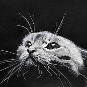 Картины и панно ручной работы. Ярмарка Мастеров - ручная работа Кот в темноте (картина). Handmade.