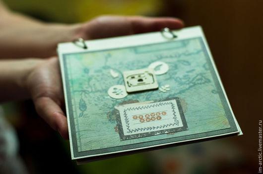 Блокноты ручной работы. Ярмарка Мастеров - ручная работа. Купить Travel Book (Блокнот путешественника). Handmade. Зеленый, картон, путешествие
