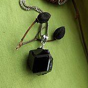 Фен-шуй и эзотерика handmade. Livemaster - original item Pendant with Titan containing melanite - black garnet. Handmade.