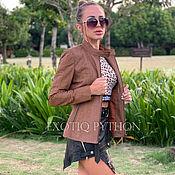 handmade. Livemaster - original item Fashionable female jacket from a Python. Handmade.