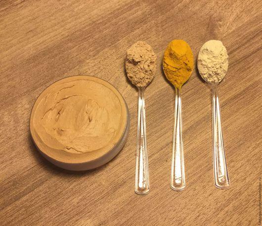 Маски для лица ручной работы. Ярмарка Мастеров - ручная работа. Купить Желтая глина, Апельсиновая цедра, Куркума. Маска для сухой кожи лица.. Handmade.