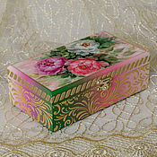 Для дома и интерьера handmade. Livemaster - original item Box-copernica Peonies. Box money. Wedding copernica. Handmade.