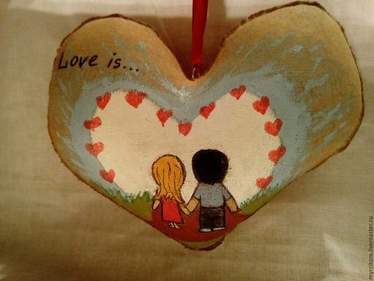 Подарки для влюбленных ручной работы. Ярмарка Мастеров - ручная работа. Купить Сердце Love is.... Handmade. Комбинированный, сердце