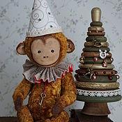 Куклы и игрушки ручной работы. Ярмарка Мастеров - ручная работа Обезьянка коллекционная плюшевая. Handmade.