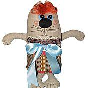 Мягкие игрушки ручной работы. Ярмарка Мастеров - ручная работа Кот с бантом. Handmade.