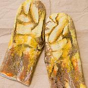 "Аксессуары ручной работы. Ярмарка Мастеров - ручная работа Валяные варежки ""Банана Мама"". Handmade."