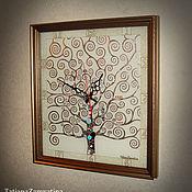 """Для дома и интерьера ручной работы. Ярмарка Мастеров - ручная работа Часы настенные """"Древо жизни"""" серебро. Handmade."""