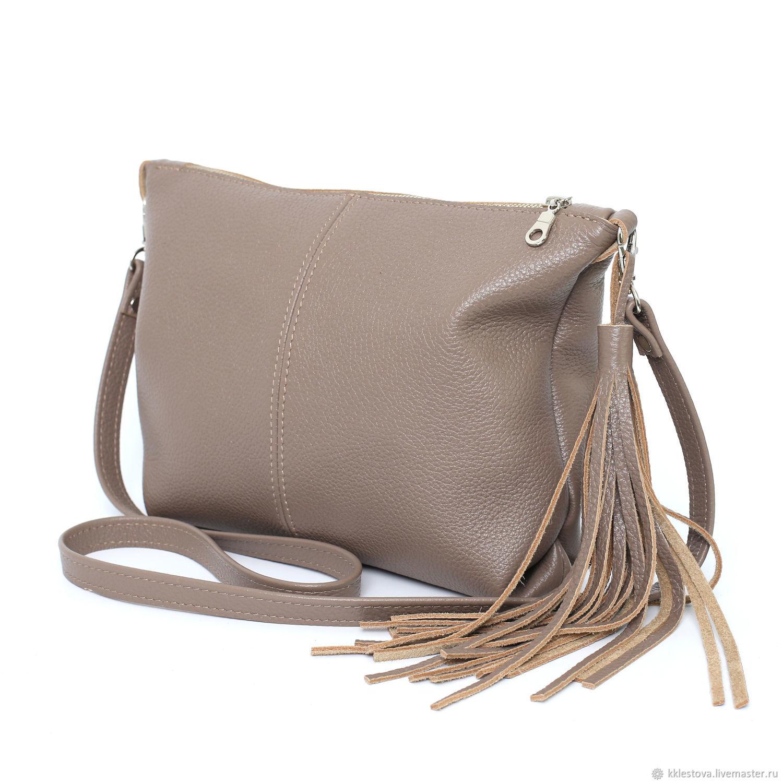3e4a59bec36 Handbags handmade. Livemaster - handmade. Buy Soft Bag with shoulder strap  leather Taup.