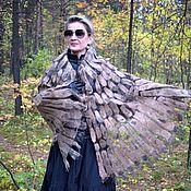 Аксессуары handmade. Livemaster - original item Reserve Felted stole Wings made of silk organza and wool. Handmade.