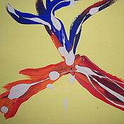 Картины и панно ручной работы. Ярмарка Мастеров - ручная работа Абстрактная картина Канадский Лось Canadian Moose. Handmade.
