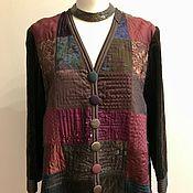 Одежда ручной работы. Ярмарка Мастеров - ручная работа Жакет из бархата и лоскутного шитья. Handmade.