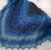 Аксессуары ручной работы. Ярмарка Мастеров - ручная работа Ажурная Шаль из пряжи Кауни Морозные узоры. Handmade.