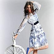 Одежда ручной работы. Ярмарка Мастеров - ручная работа лебедь белая   шифоное платье короткий вариант. Handmade.