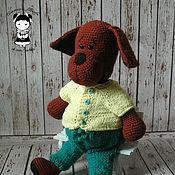 Материалы для творчества handmade. Livemaster - original item Master class on crochet toys Adorable dog. Handmade.