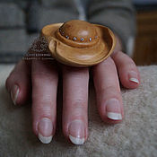 Украшения handmade. Livemaster - original item Ring with cubic Zirconia Hat. Handmade.