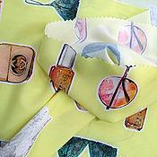 Материалы для творчества ручной работы. Ярмарка Мастеров - ручная работа -25 % от цены Ткань плательная вискоза со спандексом. Handmade.