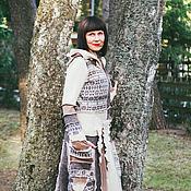 Одежда ручной работы. Ярмарка Мастеров - ручная работа Шерстяной свитер- пальто.. Handmade.