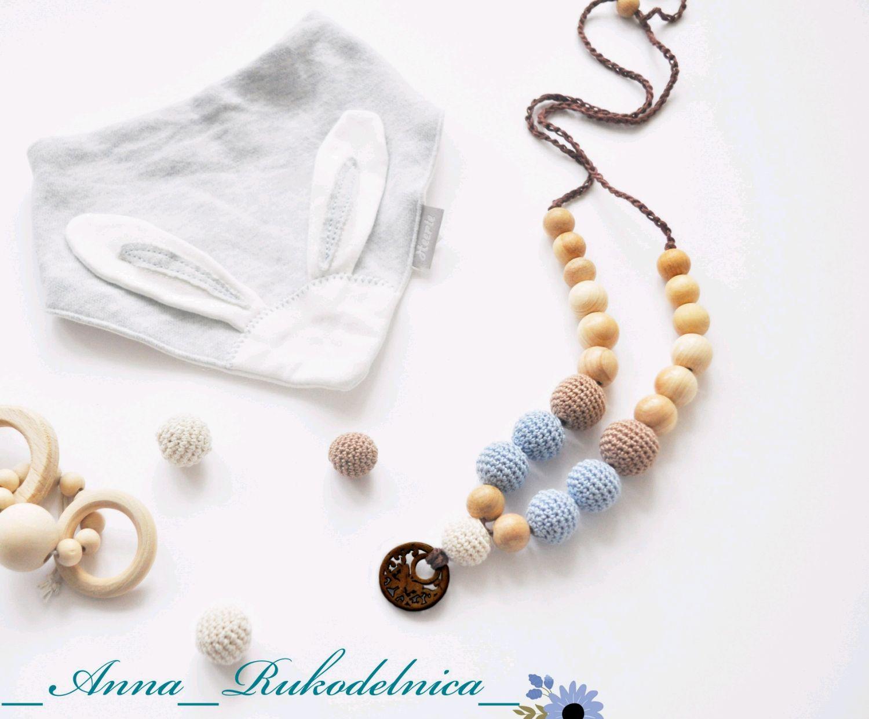 """Слингобусы с кокосовым кулоном """"Бабочка"""" голубые, Слинги, Домодедово, Фото №1"""