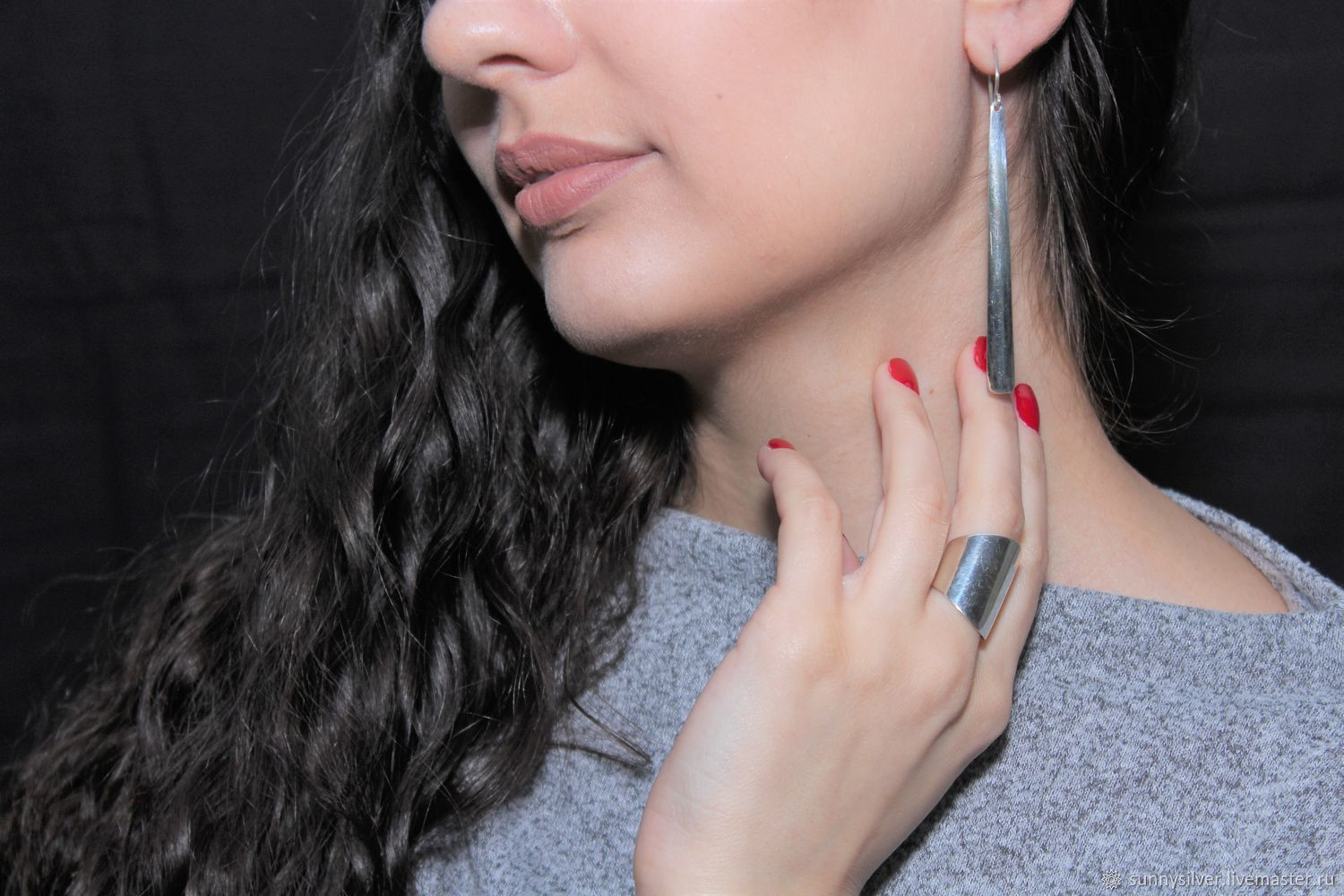 Minima Series Spear Ring and earrings in polished silver, Jewelry Sets, Yerevan,  Фото №1