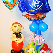 Подарки к праздникам ручной работы. Ярмарка Мастеров - ручная работа Композиция с пиратским кораблем и пиратом.. Handmade.
