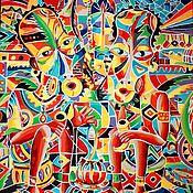 Картина «Друзья» 40х50 холст, акрил