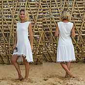 Одежда handmade. Livemaster - original item Dress summer women knitted cotton. Handmade.