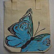 """Сумки и аксессуары ручной работы. Ярмарка Мастеров - ручная работа летняя сумка """"бабочка"""". Handmade."""